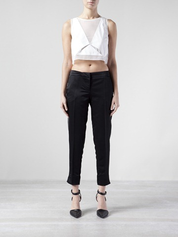 Top cropped, calça cropped